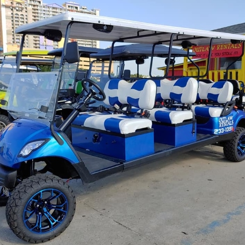 Luxury Golf Cart Rentals in Panama City Beach - Outlaw Rentals - California Cycles