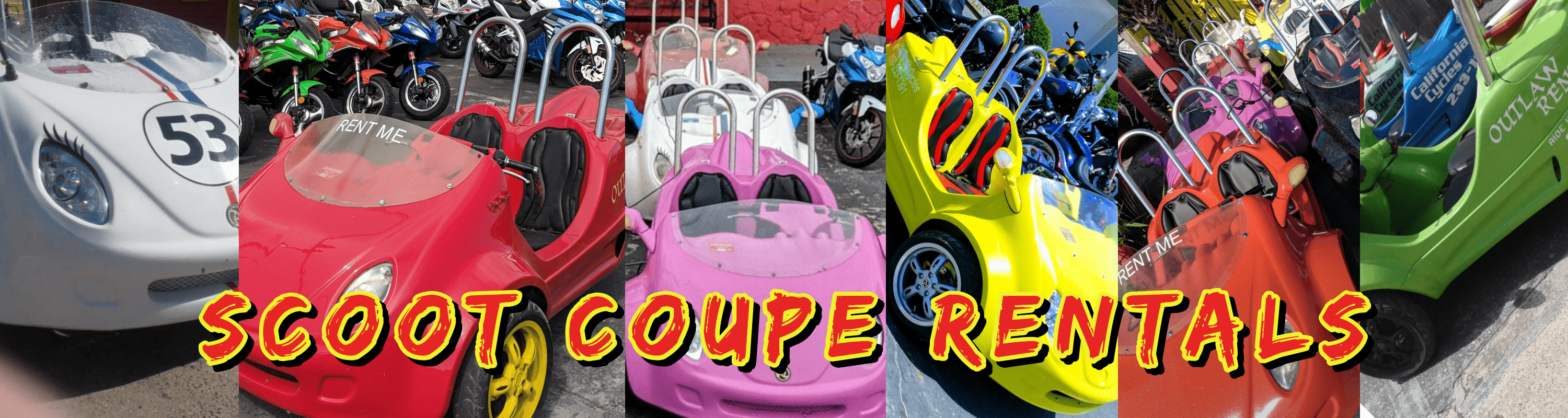 Outlaw Rentals - Scoot Coupe Rentals Panama City Beach