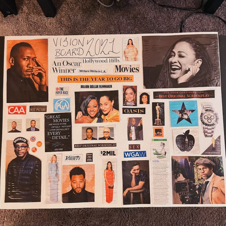 Jay Fingers Vision Board 2021