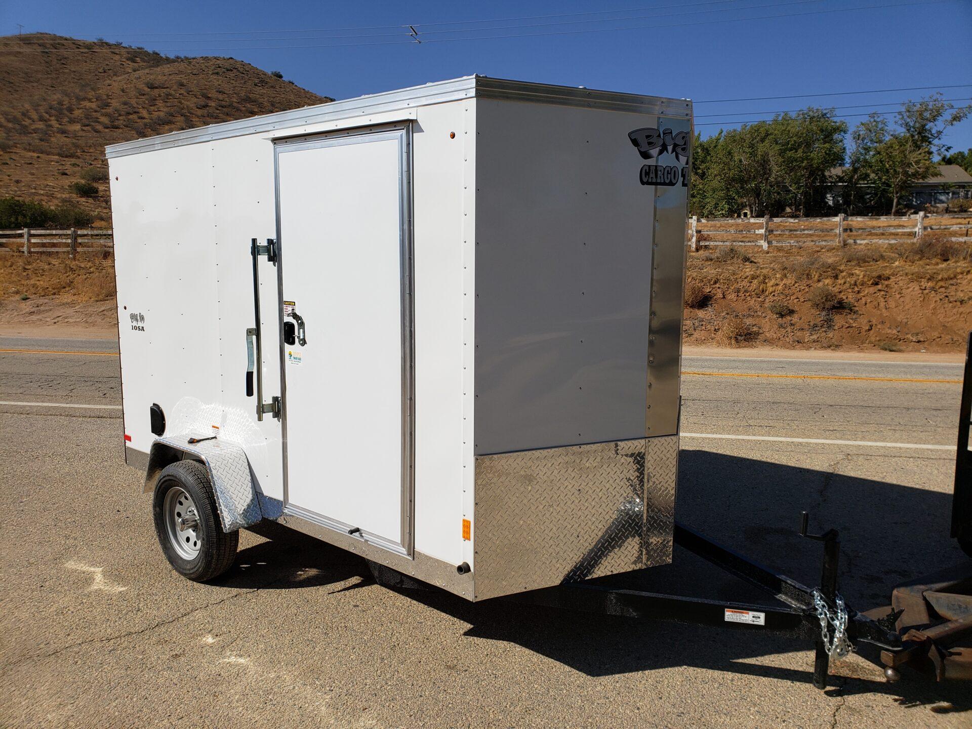 Big10 6x10 V-Nose Ramp - Passenger side front 3/4 view