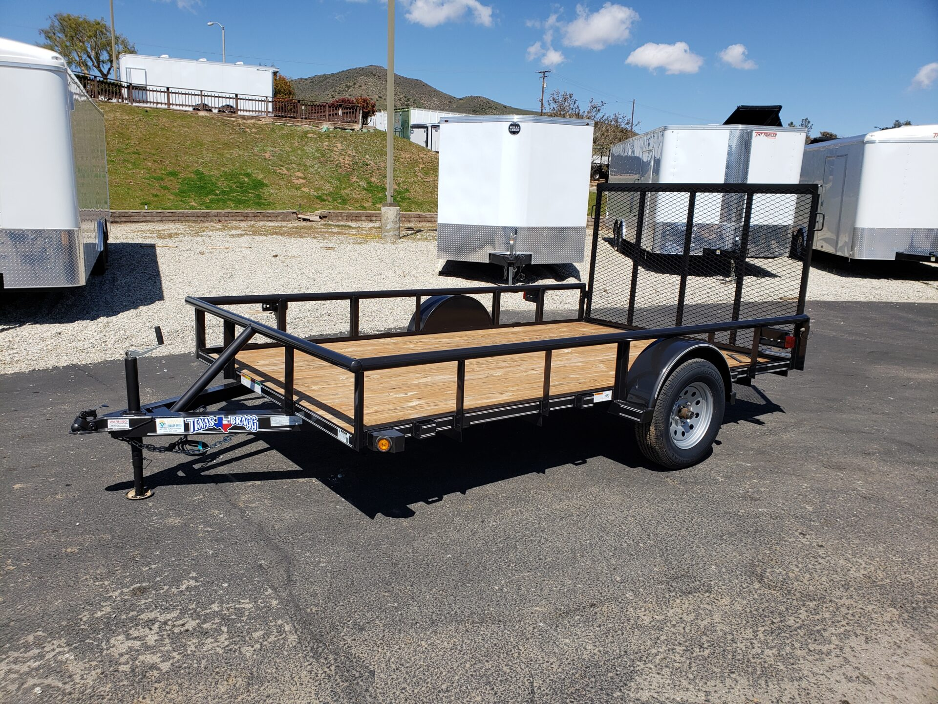 Texas Bragg 7x12 Ramp - Driver side front 3/4 view