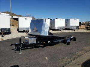 Eliminator 20ft 10K Tilt 'C' - Driver front 3/4 view bed tilted & fender removed