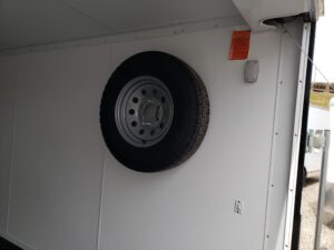 Looking at wall mounted spare tire