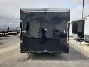 TNT 8.5x18T V-Nose Sp.Ord. - Looking at rear ramp door illustrating size