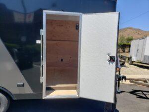 View of side door open