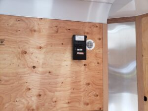 Closeup of electrical breaker panel