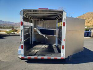 Maverick 13' 2-Horse - Rear view stall door open