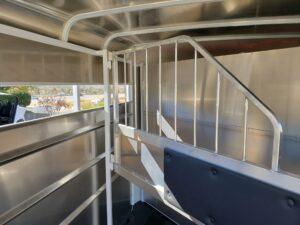 Maverick 13' 2-Horse - Closeup of stall area w/padded divider