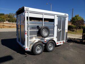 Maverick 13' 2-Horse - Passenger side rear 3/4 view