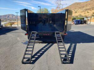 Snake River 7x12 Dump 4ft - Rear view ramps deployed