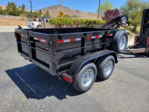 Five Star 5x8 7K Dump2ft - Passenger side rear 3/4 view