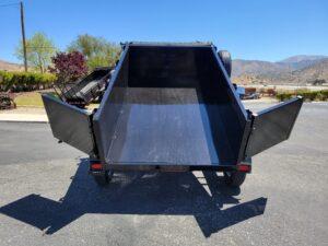 Five Star 5x8 7K Dump2ft - Rear view doors open bed up