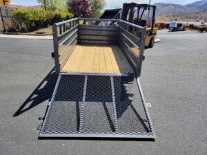 Texas Bragg 5x10 Panelwagon - Rear view ramp down