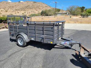 Texas Bragg 5x10 Panelwagon - Passenger side front 3/4 view