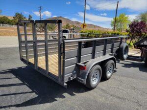 Texas Bragg 7x12 Panelwagon - Passenger side rear 3/4 view