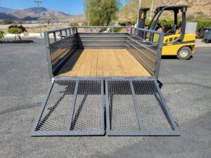 Texas Bragg 7x12 Panelwagon - Rear view both ramps down