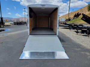 TNT 8.5x24 XCEL V-NoseDLX - View of ramp door open w/24