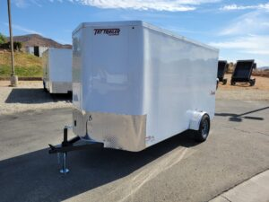 TNT 6x12 V-Nose Ramp3K DLX - Driver side front 3/4 view
