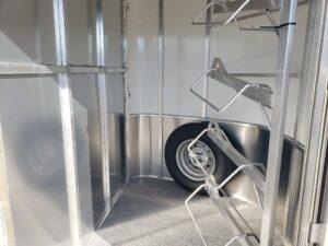 Maverick Lite 4-Horse Dlx - Closeup view of tack room interior