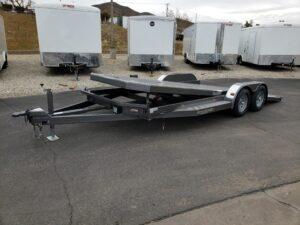 102 Ironworks Eliminator 20ft7K Tilt'A' - Driver side front 3/4 view bed tilted