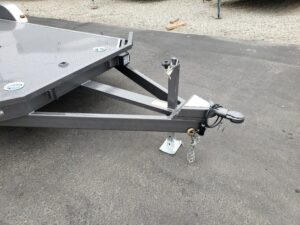 View of hitch coupler & drop leg jack