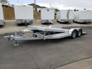 102 Ironworks Eliminator 20ft7K Tilt'B' - Driver front 3/4 view bed tilted