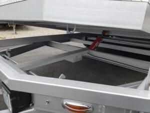 View of under tilt bed mechanism