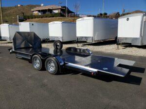 Eliminator 20ft 10K Tilt 'C' - Driver side rear 3/4 view bed down