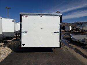 TNT 8.5x20 V-Nose 7K - Looking at rear door closed illustrating size