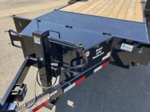 View of drop leg jack & tool box