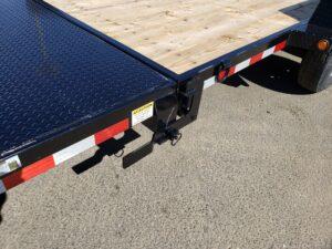 View of tilt bed release handle