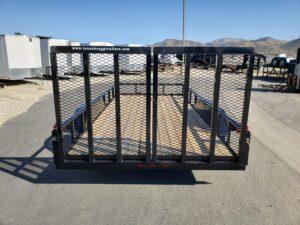 Rear view both ramp gates up