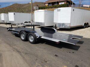 102 Ironworks Eliminator 10K Tilt - Driver side rear 3/4 view bed down