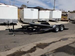 102 Ironworks Eliminator 10K Tilt - Driver side front 3/4 view bed tilted