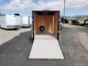 Big10 6X12 V-Nose Ramp - looking from rear at interior & ramp