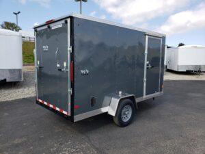 Big10 6X12 V-Nose Ramp - Passenger side rear 3/4 view