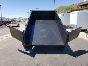 Five Star 6.5x10 10k Dump2ft - Rear view bed dumped