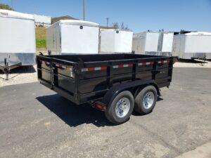 Five Star 6.5x10 10k Dump2ft - Passenger side rear 3/4 view bed down