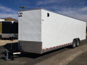Big10 8x24 V-Nose 12/9.9K - Driver side front 3/4 view