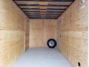 Big10 7x12 V-Nose D/D - Closeup of rear cargo area