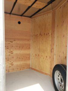 Big10 7x12 V-Nose D/D - Closeup looking through side door