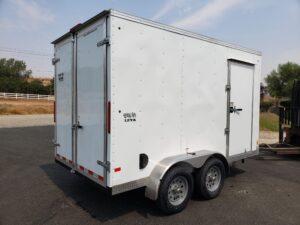 Big10 7x12 V-Nose D/D - Passenger side rear 3/4 view