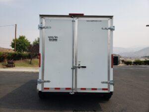Big10 7x12 V-Nose D/D - View of rear doors closed