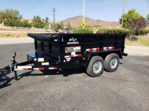 Snake River 7x10 Dump 2ft - Driver side front 3/4 view