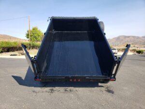 Snake River 7x10 Dump 2ft - Rear view dump bed up