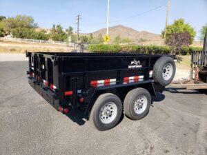Snake River 7x10 Dump 2ft - Passenger side rear 3/4 view