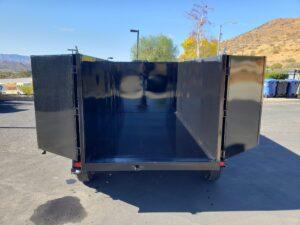 Five Star 5x10 10K Dump4ft - Rear view bed down doors open