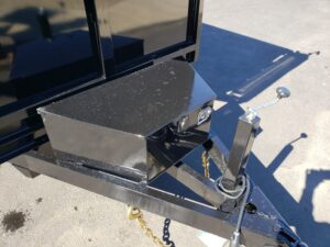 View of control box & drop leg jack