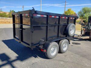 Five Star 5x10 10K Dump4ft - Passenger side rear 3/4 view
