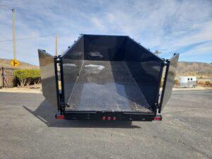 Snake River 7x16 Dump 4ft - Rear view bed up & doors open